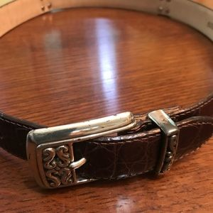 Brighton Medium Belt Brown with Silver buckle